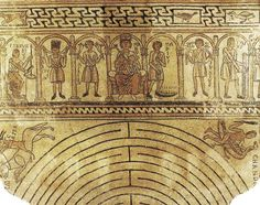 12th century pavement in mosaic - Mosaico pavimentale, XII secolo, Basilica di San Michele, Pavia, Italian #Romanesque period