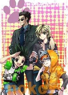 Leorio Paladinight, Kurapika Kuruta, Gon Freecss, and Killua Zoldyck       ~Hunter X Hunter