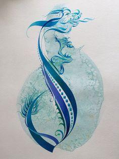 The letter 'd', original watercolor 2015.