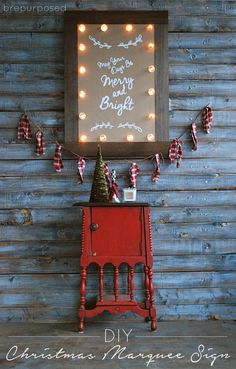 Christmas Marquee Sign :: Monthly DIY Challenge - brepurposed
