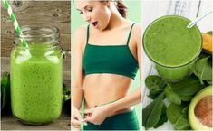 Recipe of Powerful Green Juice to lose 10 kg in 2 months in a simple and natural way. This green juice for weight loss is a great way to lose healthy weight. Bra Hacks, Weight Loss Smoothie Recipes, How To Grow Eyebrows, Dieta Detox, Body Cleanse, Healthy Weight, Health Tips, Juice, Gym Shorts Womens
