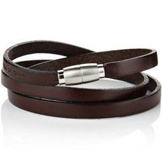 OFM Brown Leather Bracelet