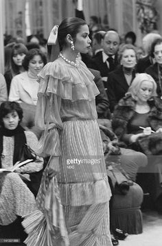 1977 Yves Saint Laurent runway show.