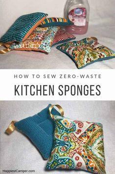 DIY Zero Waste Kitchen Sponge - - DIY Zero Waste Kitchen Sponge Sewing Tutorials for Beginners DIY Zero Waste Kitchen Sponge. We provide step by step intructions so you can make your own DIY Zero Waste Kitchen Sponges. Diy Sewing Projects, Sewing Projects For Beginners, Sewing Hacks, Sewing Tutorials, Sewing Crafts, Sewing Tips, Tutorial Sewing, Sewing Ideas, Sewing Patterns Free