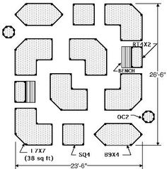 Raised-Garden-Beds.com Easy Garden Plans, Designs, Layouts - stretching out this plan to put in a centerpiece would be cool. Also good to remember I can to gravel+wood if brick is too expensive.