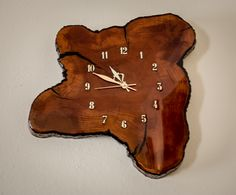 Clock made out of a slice of a tree trunk