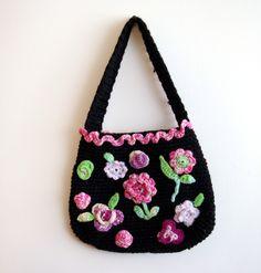 Crochet Bag/Purse OOAK by knittingcate on Etsy www.etsy.com