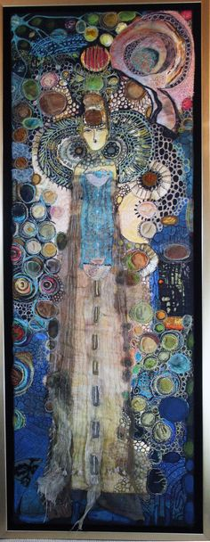 Stitched and burned felt, painted Stitch-Witchery...Gordana Brelih