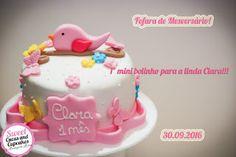 Sweet Cucas and Cupcakes by Rosângela Rolim: Mini bolo de Mesversário