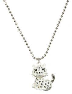 Rhinestone Cat Necklace