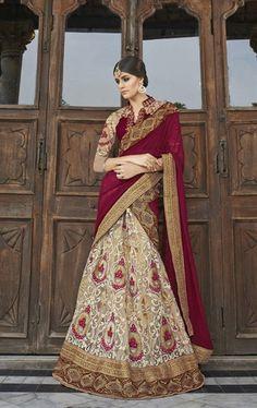 Admirable Tan Brown Designer Wedding Lehenga Choli