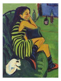 Ernst Ludwig Kirchner, Artistin Marcella, 1910 Quote below from: Norbert Wolf. Ernst Ludwig Kirchner On the Edge of the Abyss of Time. Ernst Ludwig Kirchner, Städel Museum, Berlin Museum, Henri Matisse, Art And Illustration, Art Amour, Art Moderne, Fine Art, Art Design