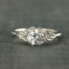 Celtic Engagement Ring~Elinor~Celtic Knot Ring~Irish Engagement Ring~Promise Ring~Gift for Her~Birthstone Ring~Braided Engagement Ring - Engagement Rings Vintage Irish Engagement Rings, Vintage Engagement Rings, Celtic Knot Ring, Celtic Wedding Rings, Rings Pandora, Pandora Jewelry, Celtic Knot Designs, Bridesmaid Jewelry Sets, Ring Verlobung