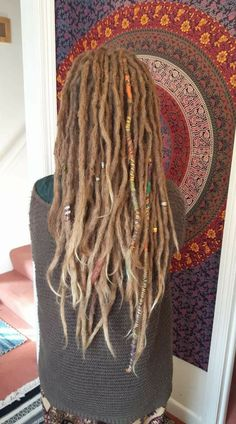 Nicely done Dreds Dreads Styles, Dreadlocks Girl, Locs, Dreadlock Hairstyles, Messy Hairstyles, White Girl Dreads, Rasta Hair, Beautiful Dreadlocks, Beehive Hair