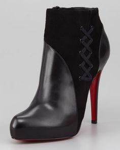 Nice pair of black booties.
