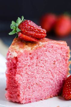 Melt in your Mouth Strawberry Buttermilk Pound Cake is simply amazing. The intense strawberry flavor and ultra-moist cake make a winning combination. Pound Cake Recipes, Easy Cake Recipes, Best Dessert Recipes, Delicious Desserts, Cheesecake Recipes, Baking Recipes, Buttermilk Pound Cake, Buttermilk Recipes, Homemade Cakes