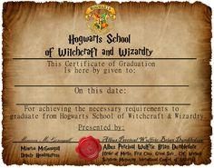 Hogwarts Graduation Certificate CaptainJackHarkness.deviantart.com on…