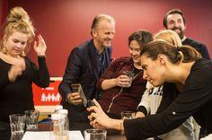 Coworkers enjoying a kombutcha tasting at Impact Hub. The kombutcha is made by Fredrik Pettersson, Founder of Kombitcha - kombutcha with attitude!