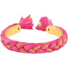 Aurelie Bidermann Copacabana Cuff ($171) ❤ liked on Polyvore featuring jewelry, bracelets, pulseras, red, cuff jewelry, aurélie bidermann, red jewelry, red bangles and braid jewelry