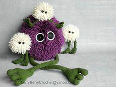 Ravelry: Quasi-Boo fluffy monster PDF Crochet Toy Pattern pattern by Cherry Berry Crochet