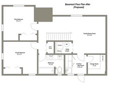 Basements+Remodel+Floor+Plan+28X40 | BASEMENT FLOOR PLAN AFTER (PROPOSED):