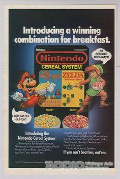 Nintendo Cereal System '80s original PRINT AD Super by poopsheet, $5.99