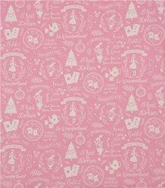 pink cute Alice in Wonderland text tree Canvas fabric Kokka Japan 2