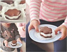 Homemade Puffy Cloud Smores.  Perfect for kids or a party where you don't want too many by the fire pit!