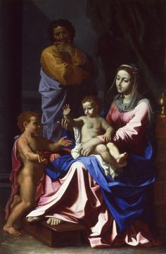The Holy Family with the Infant St. Poussin Nicolas, Seven Sacraments, Ringling Museum, Queen Of Heaven, Classical Antiquity, Religious Paintings, John The Baptist, Rome Travel, Holy Family