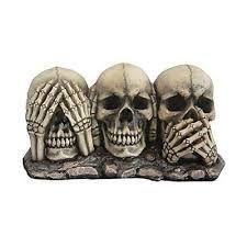 Image result for skeleton hear no evil see no evil speak no evil