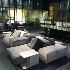 Instagram media by boundarycollection - Welcome to #LivingDivani Glass Pavilion Salone del Mobile 2016 #Extrasoftsofa It's all about the finishes and details design #PieroLissoni visit www.boundarycollection.com