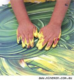 Cornstarch recipe for finger paint