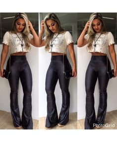 Roupa Outfits For Teens, Casual Outfits, Cute Outfits, Fashion Outfits, Womens Fashion, Rock Outfits, Southern Outfits, Fashion Models, Fashion Trends