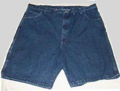 "Wrangler Carpenter Blue Denim Jean Shorts Size 48 Excellent Condition 10"" Inseam #Wrangler #Denim"