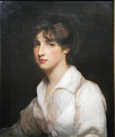 Margaret Mercer Elphinstone, Comtesse de Flahault, Viscountess Keith, and Baroness Nairne (1788–1867), John Hoppner.  the only child of George Elphinstone, 1st Viscount Keith, admiral, by his first wife, Jane, only child and heiress of William Mercer of Aldie, Perth, was born in Hertford Street, Mayfair, 12 June 1788, and in 1789 lost her mother, to whose right to the barony of Nairne (at that time in attainder) she then succeeded. Member of Princess Caroline's inner circle.