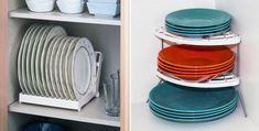 Para deixar os pratos organizados, lance mão de suportes confeccionados especialmente para estes itens - Ademilar