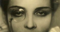 The Eyewear of The 19th Century - Women did not often wear monocles, but I do love this picture.