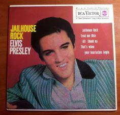 """7"""" ELVIS PRESLEY *JAILHOUSE ROCK+3 - PB 49681 (3-20448) -  Spain -"""