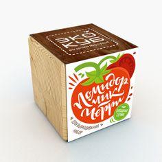 """Упаковка для """"Экокуб"""". Леттеринг, каллиграфия, иллюстрация. Lettering, calligraphy, Cyrillic, tomat seeds"""