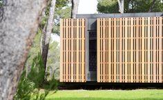 PopUp House Wood Paneling