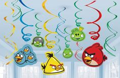 Angry Birds - Décorations Spirales 12/pqt