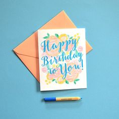 Fun Birthday Card Happy Birthday Card Birthday by MospensStudio