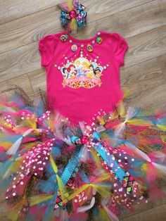 A personal favorite from my Etsy shop https://www.etsy.com/listing/223369215/disney-princess-crown-tutu-set-size-5t