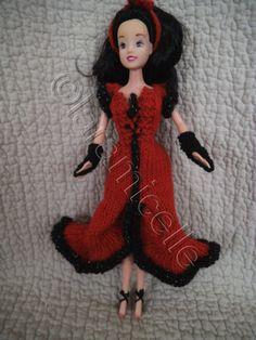 tuto gratuit barbie; robe flamboyante ,chaussures et mitaines - laramicelle