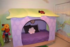 Tinkerbell butterfly theme room | Fairyland, This is my daughter's room. I hand painted all the walls ...