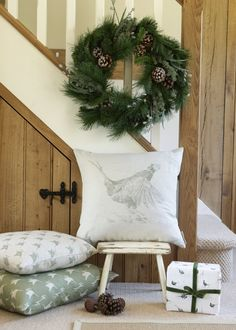 Milton & Manor design and make beautiful homewares, taking inspiration from traditional country images and presenting them in a fresh and modern way. Cottage Inspiration, Decor, Christmas Hallway, English Cottage Style, Merry Christmas To All, Cottage Interiors, Modern Country Style, Christmas Inspiration, Scandinavian Christmas
