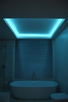 Saratoga Springs-based Teakwood Builders bathroom lighting design idea book: RGB Lumilen Strip Light. Teakwood Builders, kitchen and bath remodeler, custom home builder and general contractor Saratoga Springs and Capital Region.