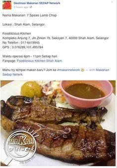 Destinasi Makanan SEDAP Network #favourite #7spices #lambchop #foodilicious #foodiliciouskitchen #shahalam #1 #restaurant #tripadvisor #jjcmtv3