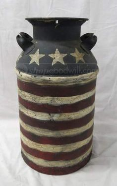 Amazon Com Set Of 3 Americana Canister Jar Set Red White