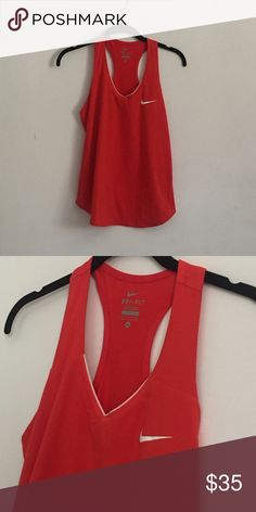 Red medium Nike workout top Brand new Nike Tops Tank Tops